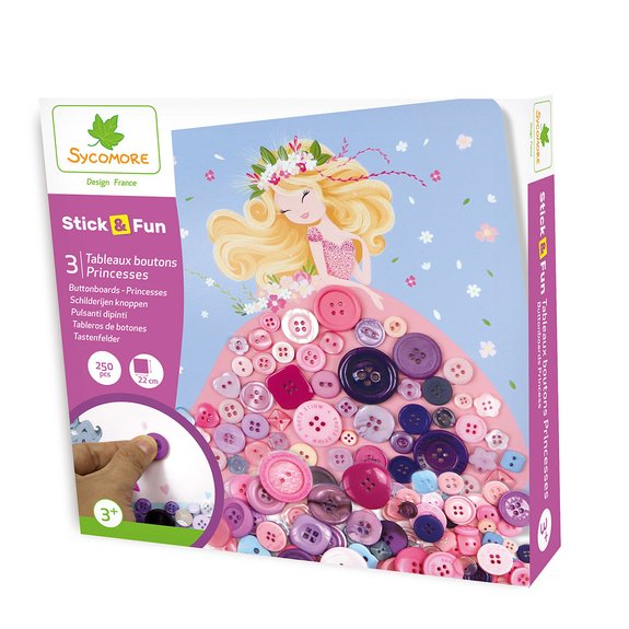 Stick'n Fun - Tableaux boutons princesses