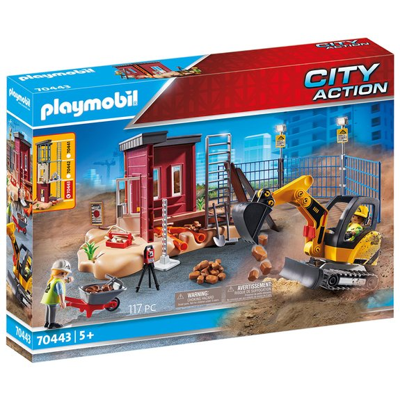 Mini-pelleteuse et chantier Playmobil City Action 70443