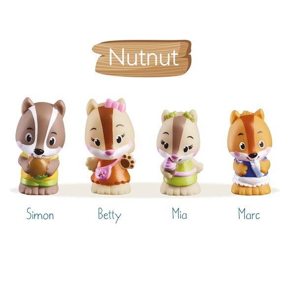 4 figurines de la famille NutNut Klorofil