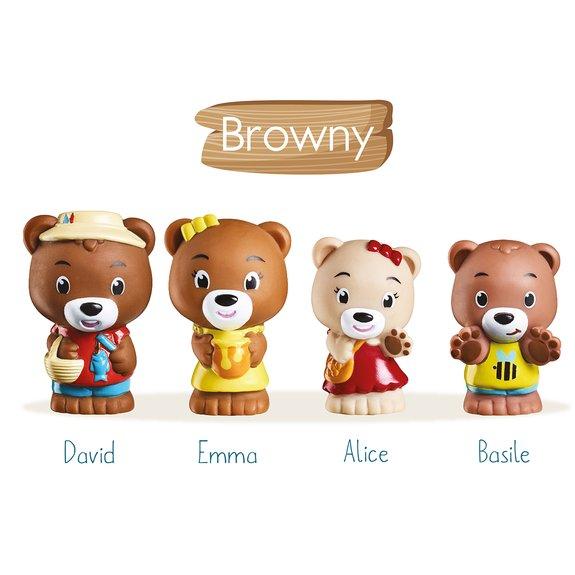 4 figurines de la famille Browny Klorofil