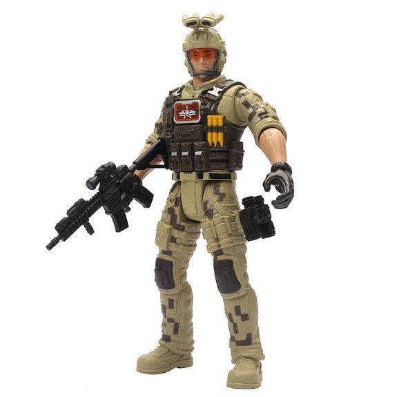 Figurine soldat 30 cm avec accessoires
