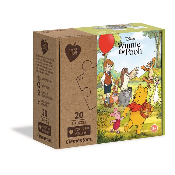 Play For Future - Puzzles 2x20 pièces - Winnie l'Ourson