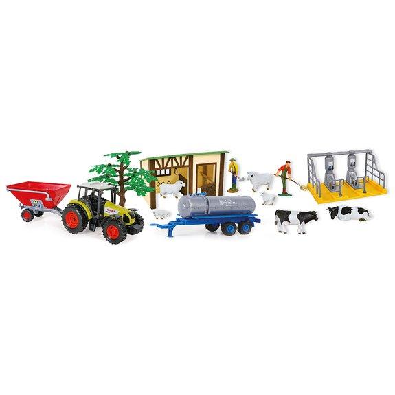 Coffret Ferme - Tracteur Claas + Figurine + animaux et accessoires