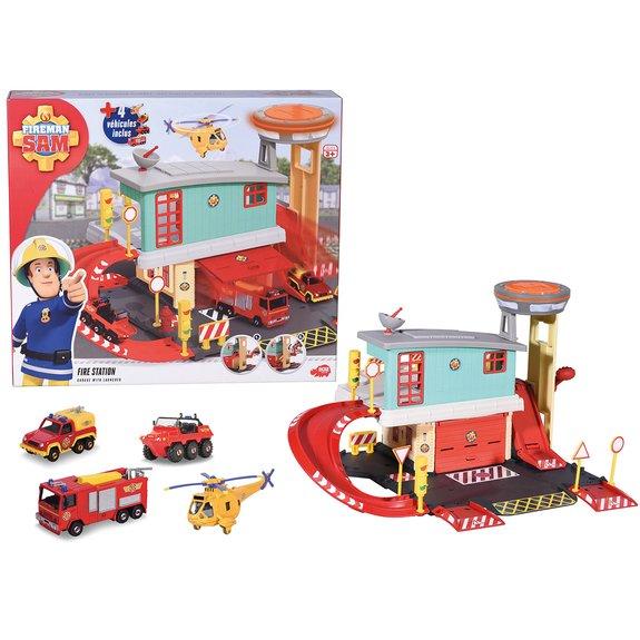 Centre de secours Sam le pompier + 4 véhicules