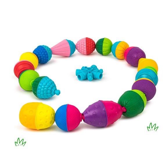 Sac de perles éducatives et accessoires Lalaboom - 48 pièces