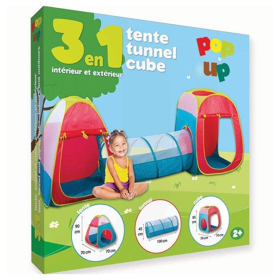 Tente tunnel et cub pop up
