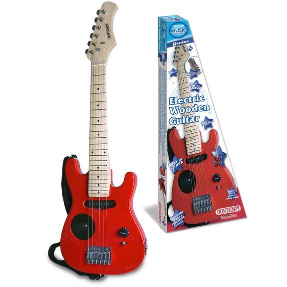 Guitare électrique en bois