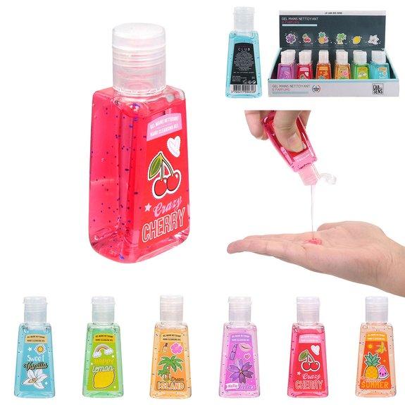 Gel hydroalcoolique nettoyant pour mains parfum Fruits 30ML