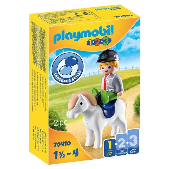 Playmobil 1.2.3 Garçon avec Poney 70410
