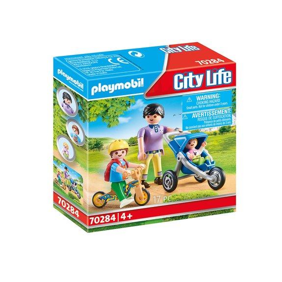 Maman avec enfants Playmobil City Life 70284