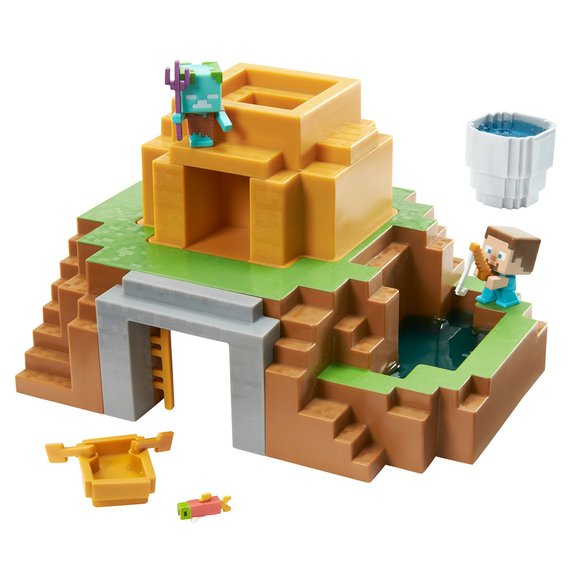 Minecraft - Coffret Oasis transformable + Figurines