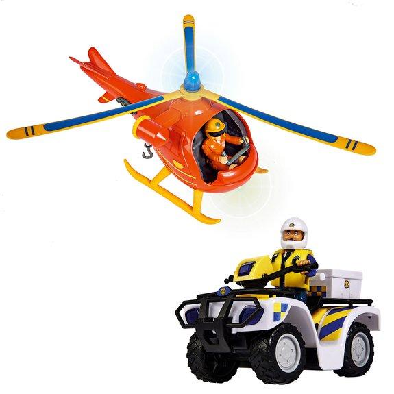 Hélicoptère Wallaby + Quad de police - Sam Le Pompier