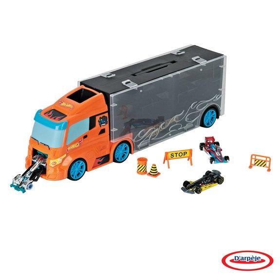 Camion de transport Hot Wheels + Voitures + Accessoires