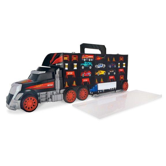 Grand Camion Transporteur + 9 Véhicules + Accessoires