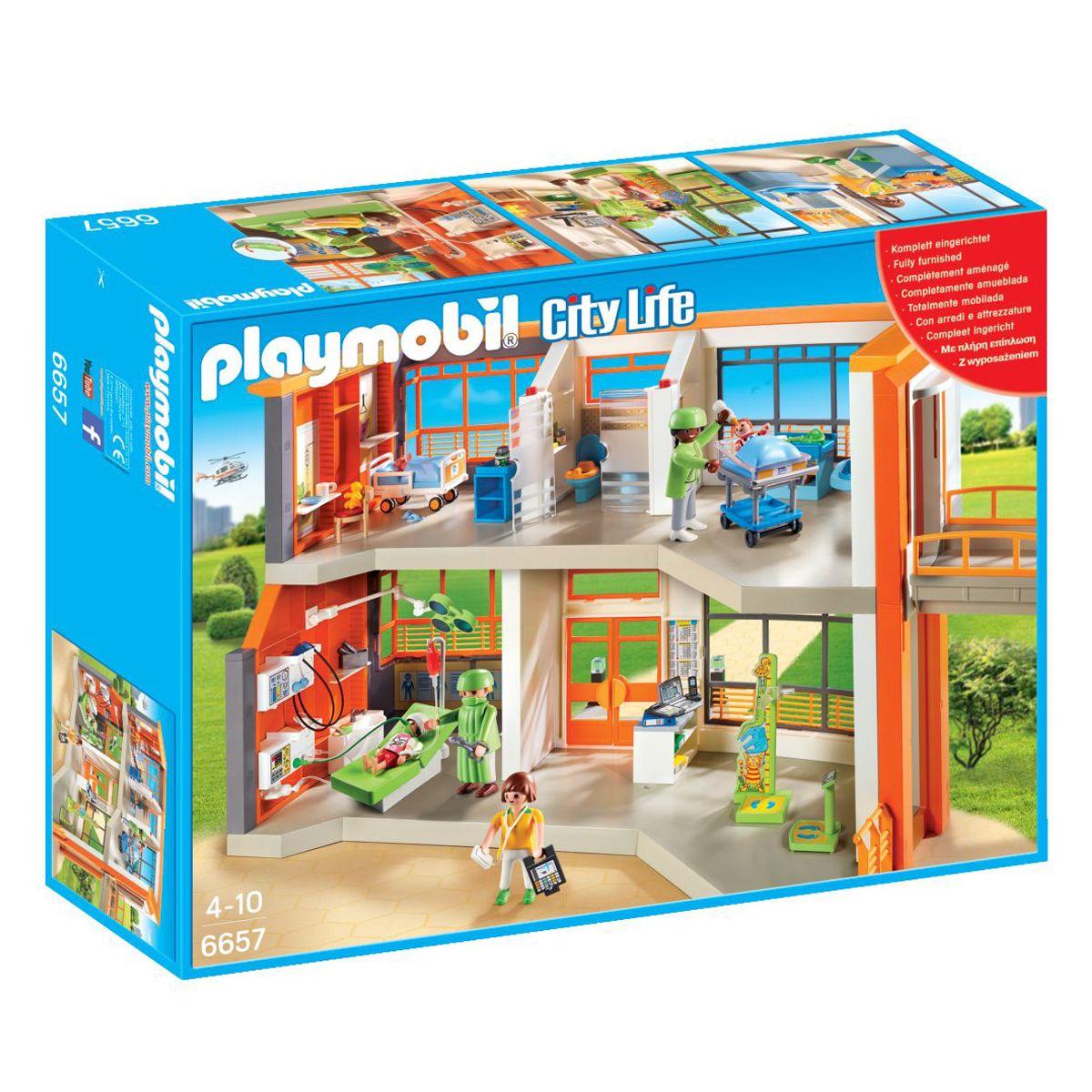 Mini Pédiatrique City Univers Aménagé 6657 Playmobil Life Hôpital nOXN80wPk