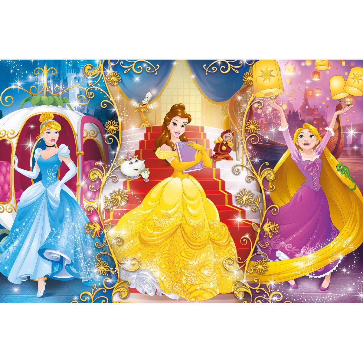 Clementoni paillettes Puzzle Disney Princess Puzzle 104 pièces à partir de 6 ans