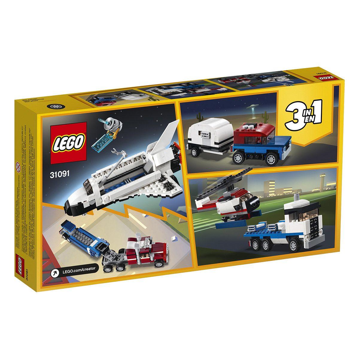 Lego Aventures Navette Le De Transporteur Creator 31091 Et Sport TFK1lcJ