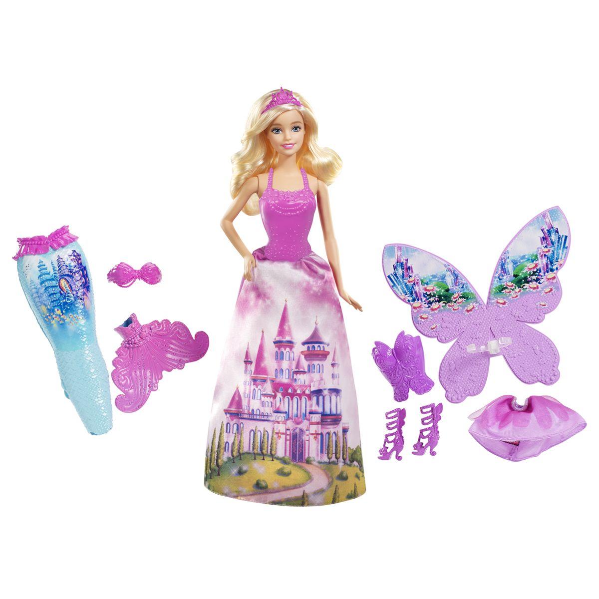 big discount attractive price classic style Poupé mannequin Barbie féerie 3 en 1 - Poupons et poupées ...