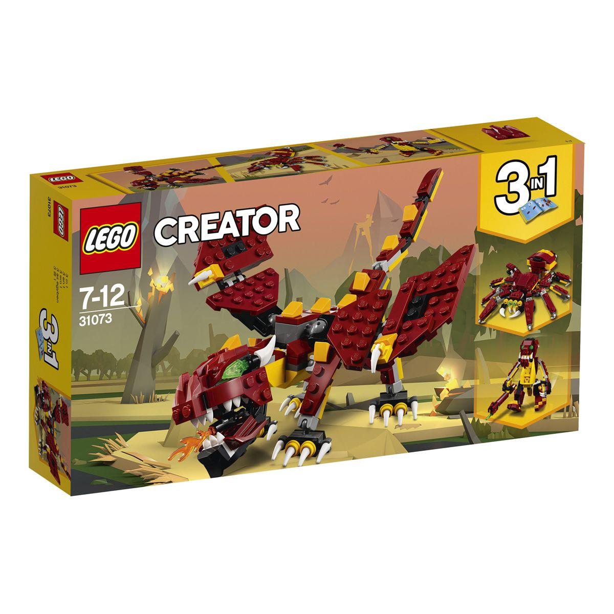 Lego Creator 1 En Robots Et Mythiques Créatures Les 3 31073 0nOP8wkX