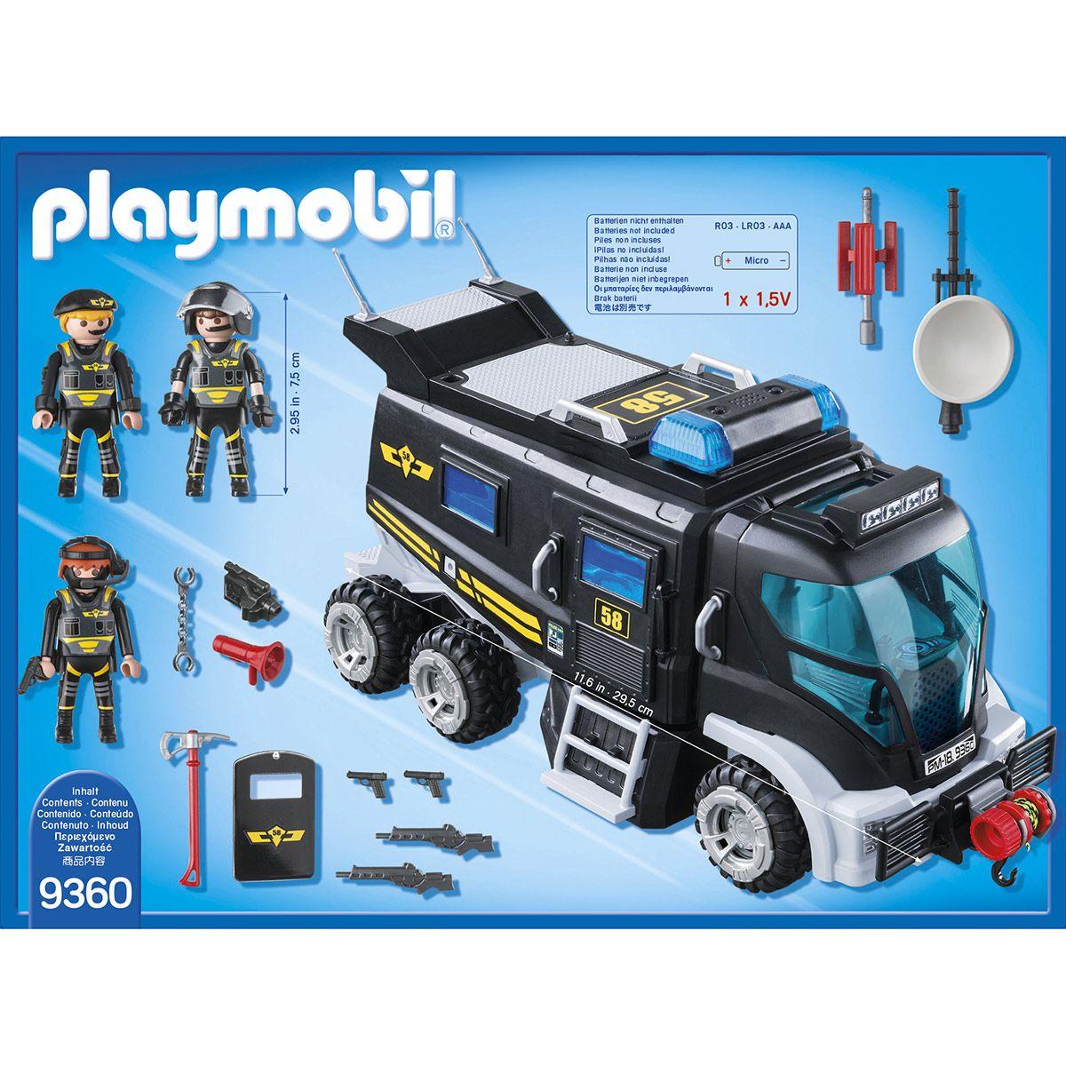 D'élite 9360 Playmobil City Sirène Action Des Camion Policiers W9IHED2