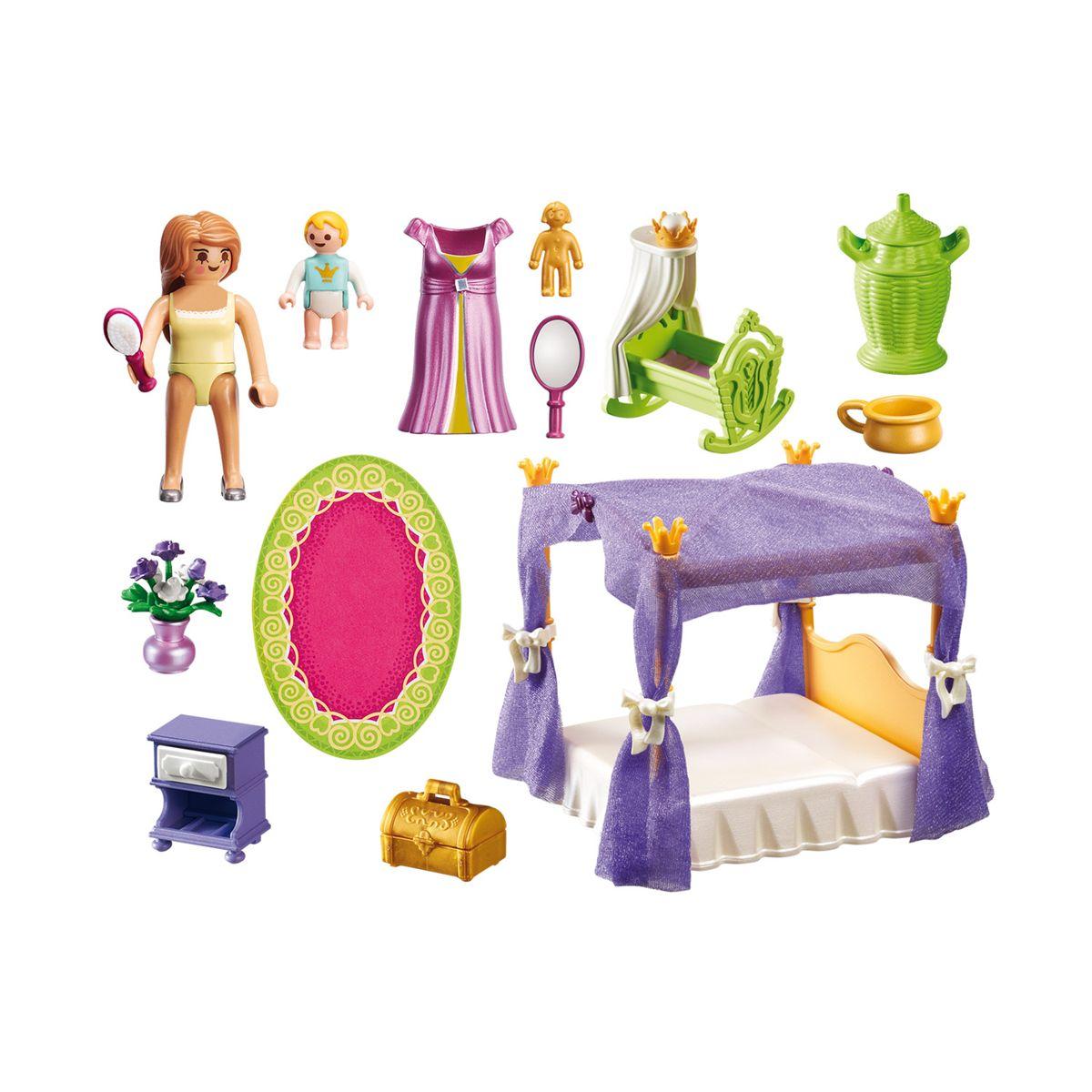 Chambre de la reine avec lit à baldaquin Playmobil Princess ...