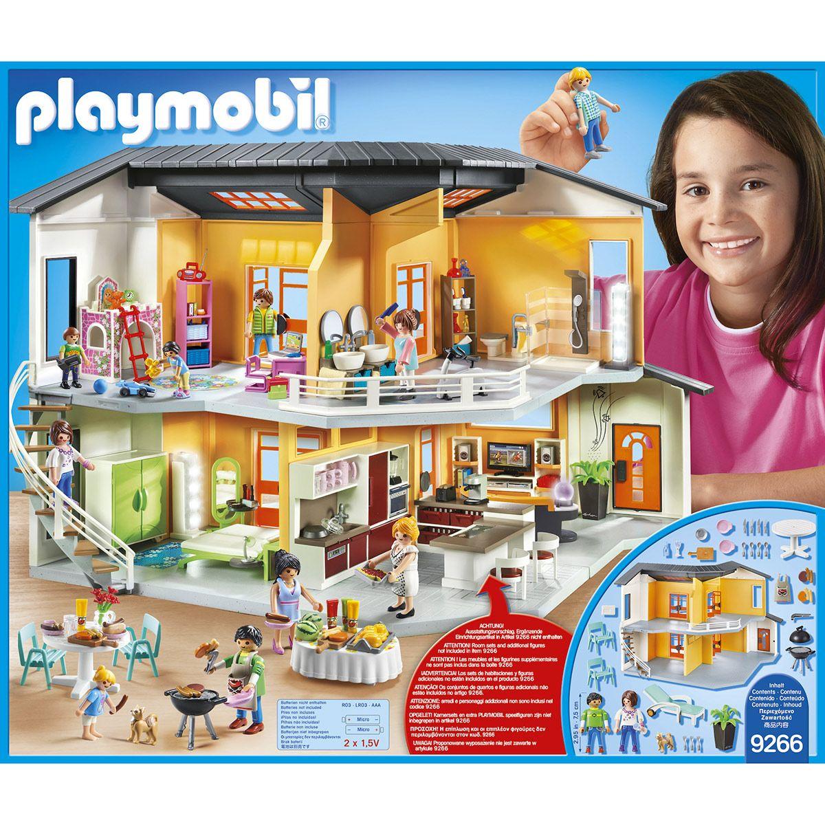 Maison moderne Playmobil City Life 9266 - La ville, la ...