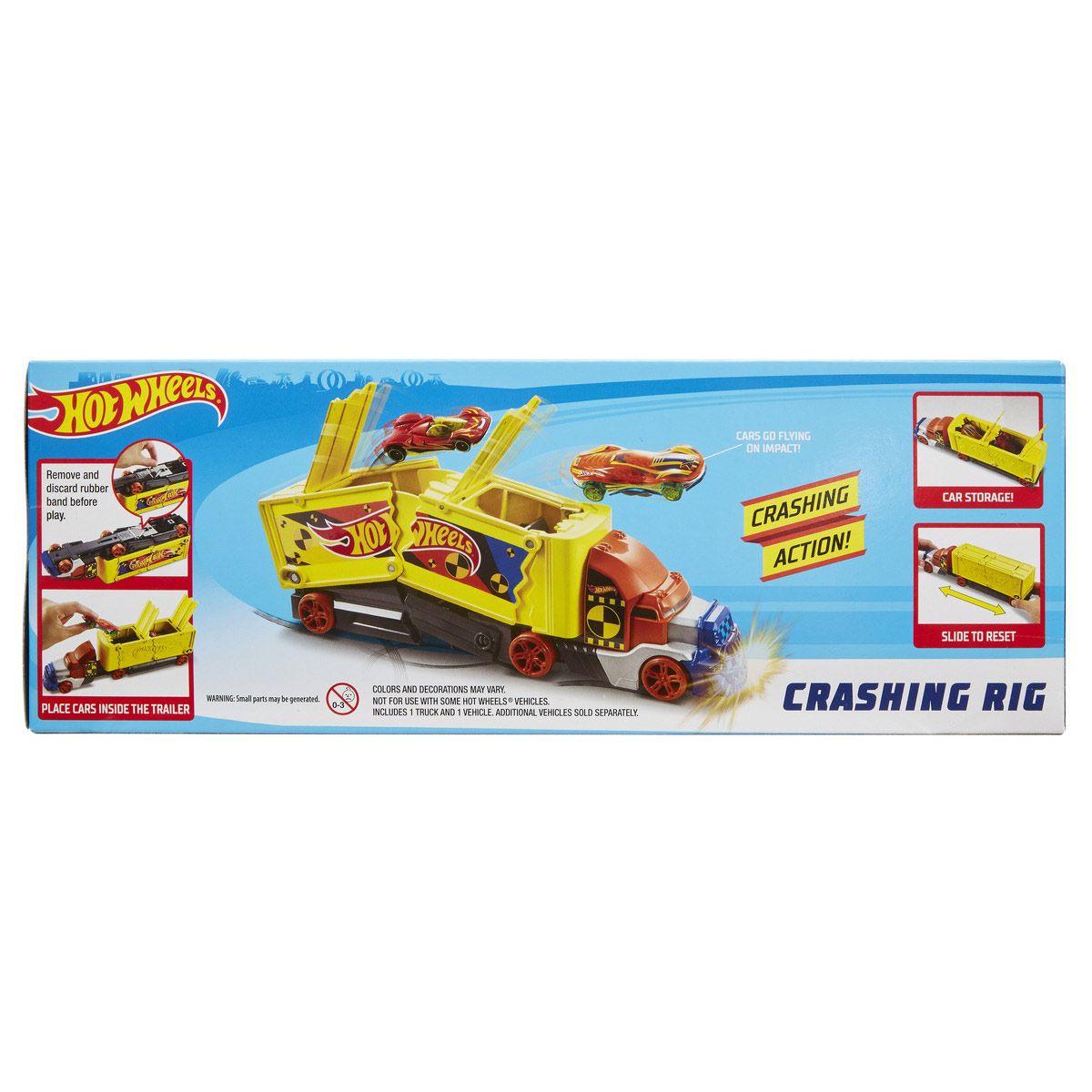 Hot Et La Récré Figurines Véhicules Wheels Grande Crash Camion zpMUSV
