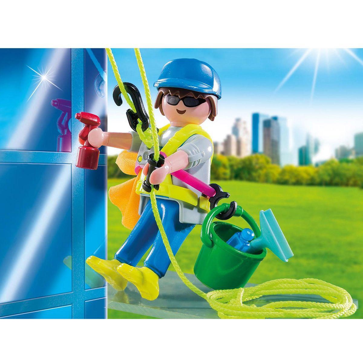 Laveur De Vitres Playmobil Spécial Plus 5379 La Ville La