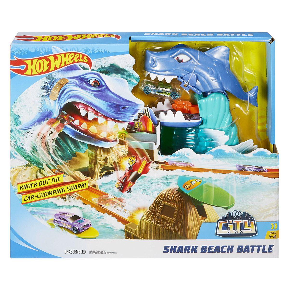 Circuit Et Hot Wheels Figurines Véhicules La City Requin Sur Plage SMVpUz