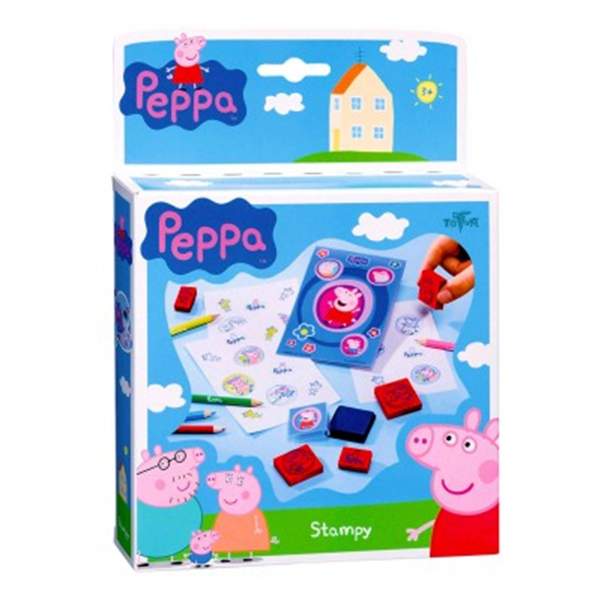 Kit Créatif Peppa Pig Jeu De Tampons Dessins Et Peinture