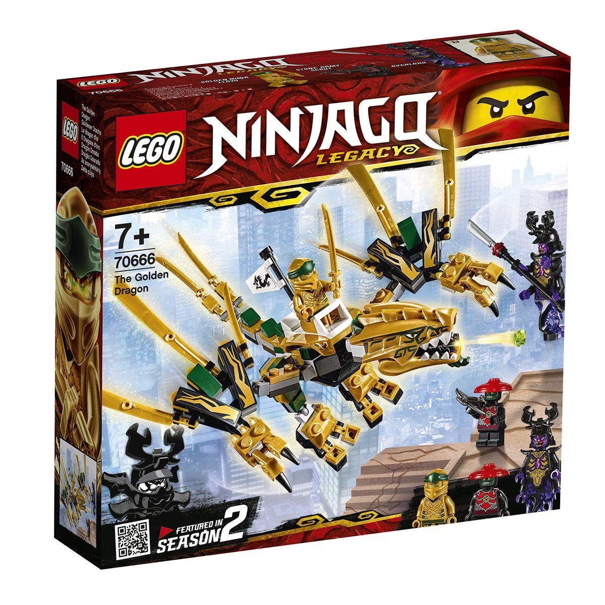 70666 Le Et Lego HérosCinéma Ninjago Super Jeux Dragon D'or yvbY67gf