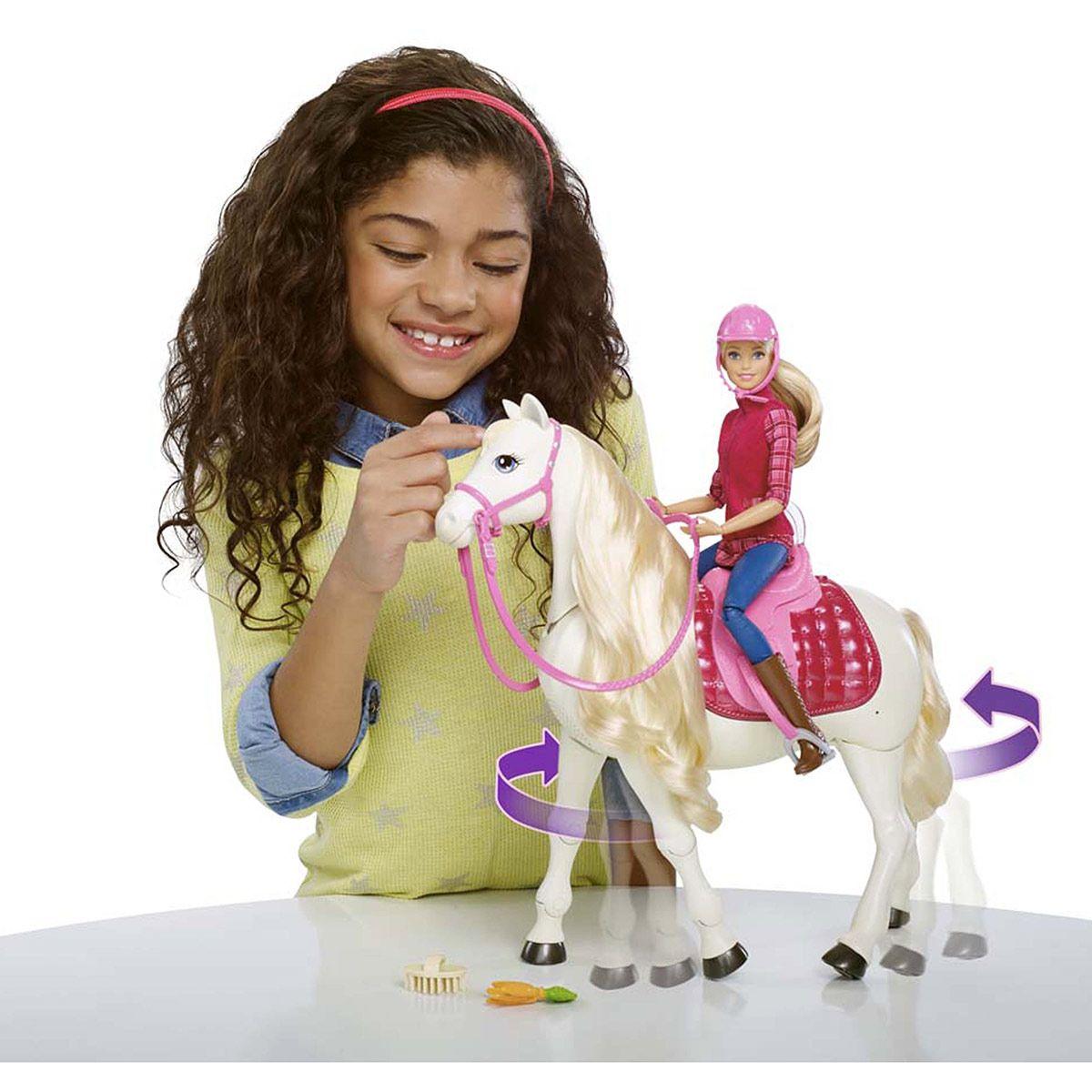 Véhicules La Récré De Cheval Rêve Grande Barbie Son Et Figurines eCBoWdQxr
