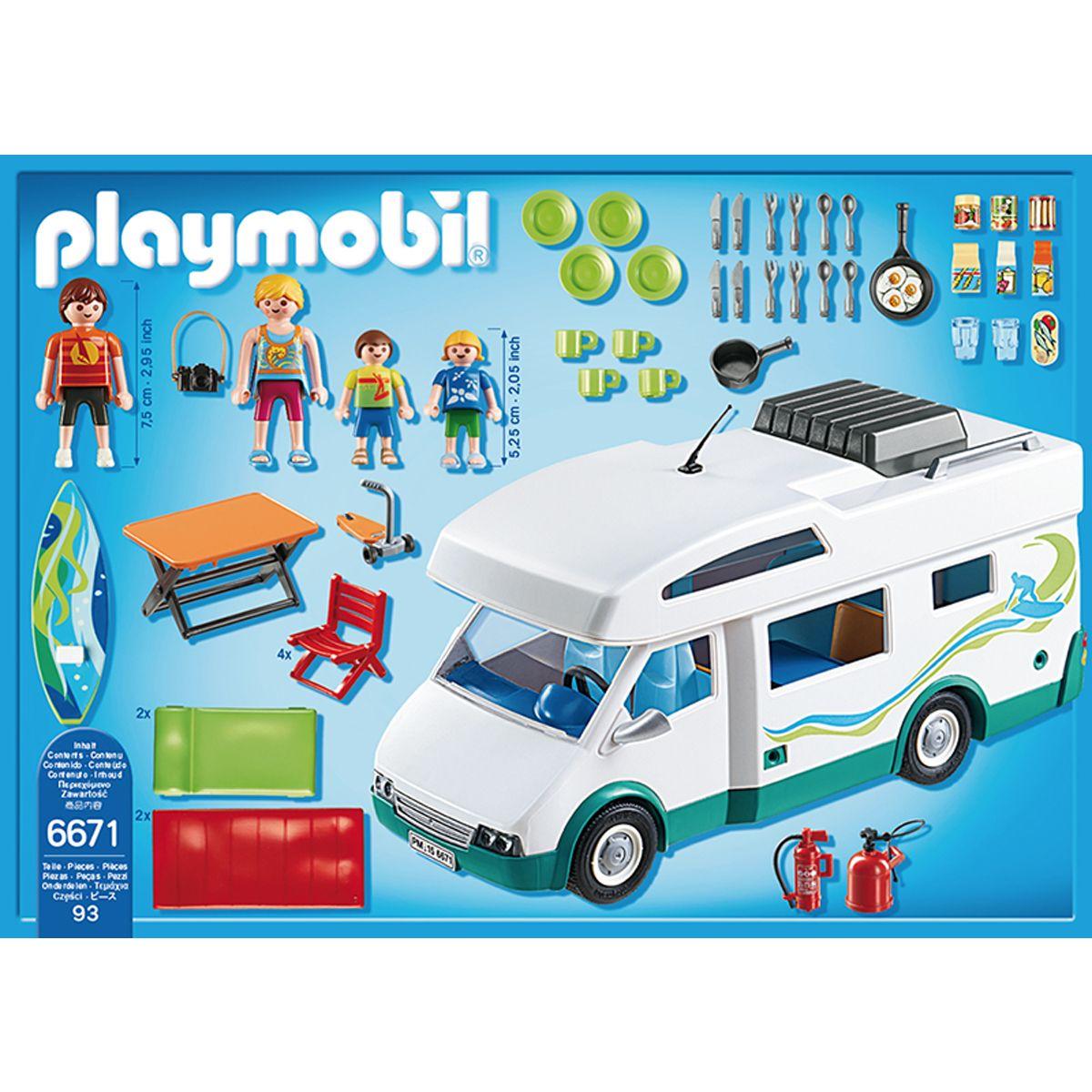 Summer Ville Playmobil La Car Famille Avec Fun Camping 6671 thBdsrCQxo