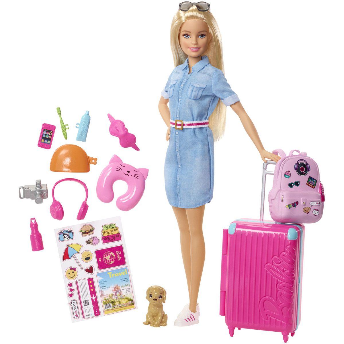Poupée mannequin Barbie voyage