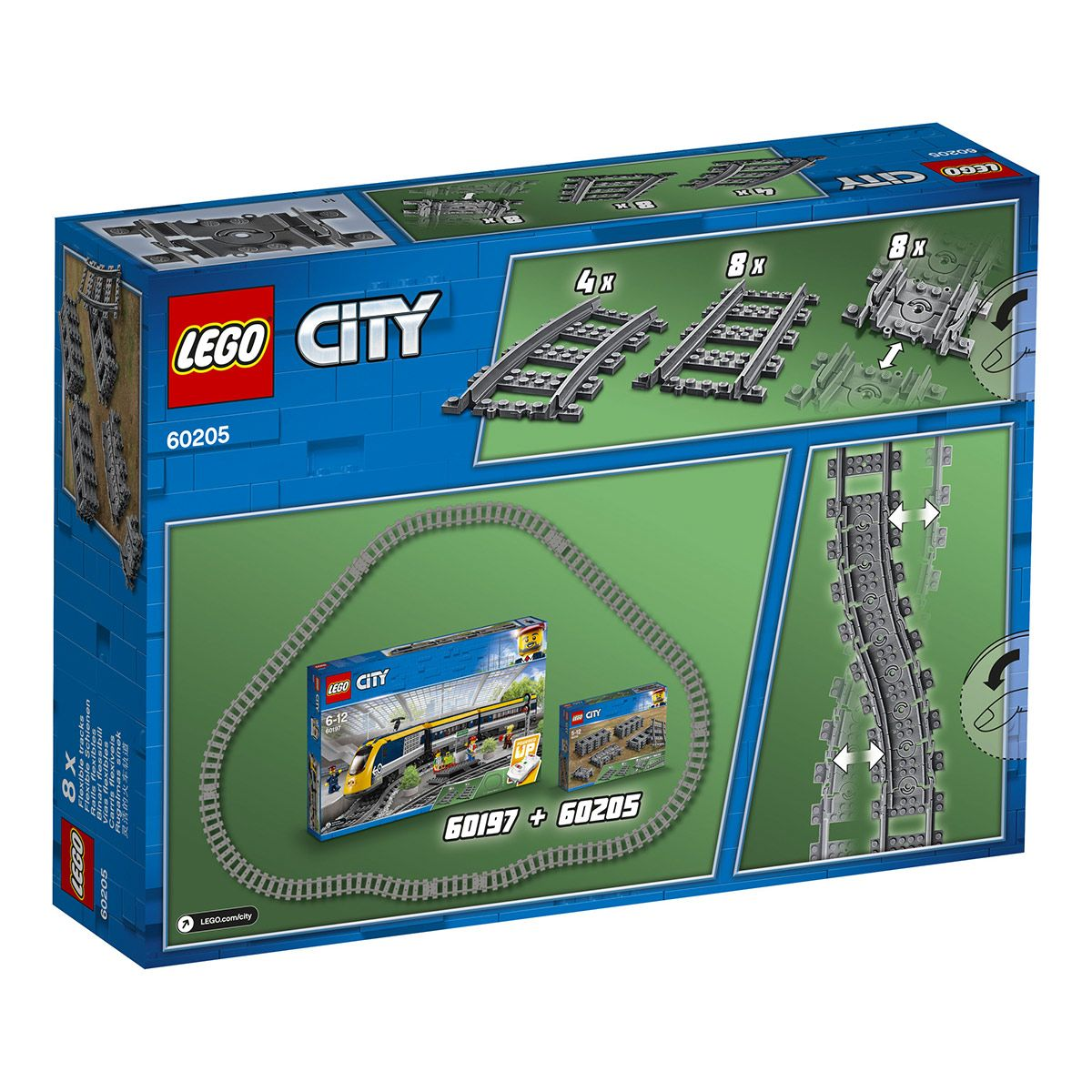 Pack de rails LEGO City 60205 , Ville et univers urbains
