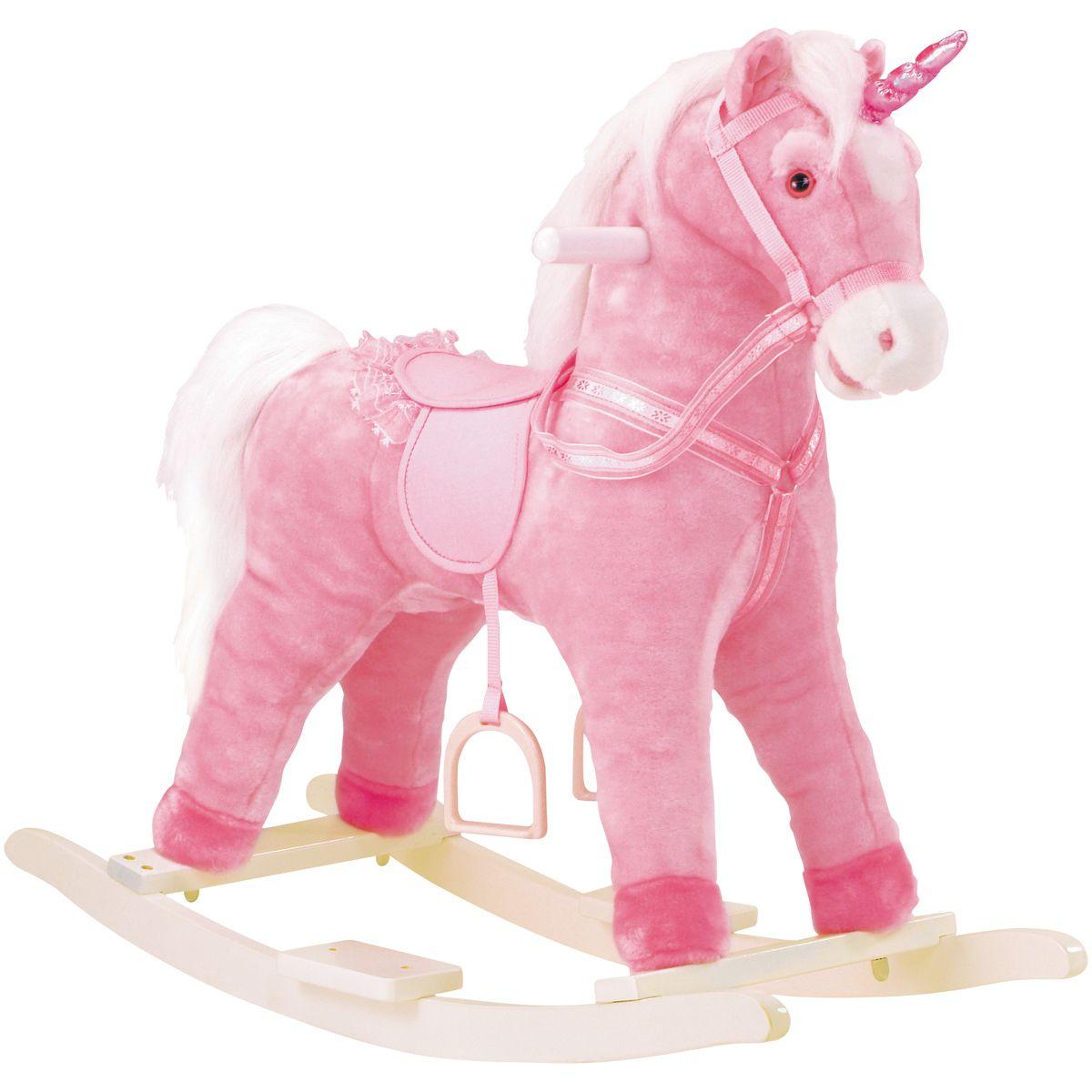 Licorne à bascule rose - Jouets d'éveil et