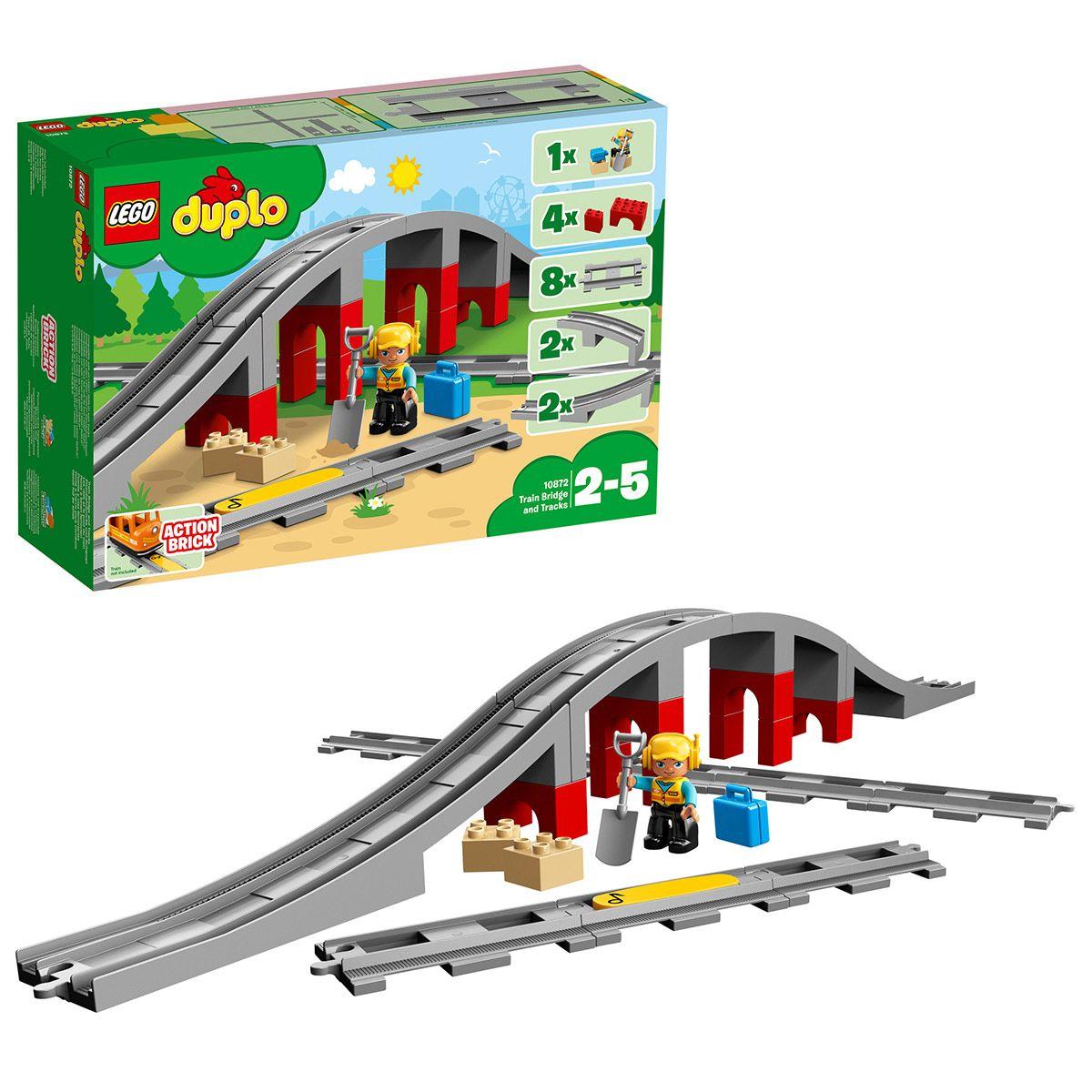 Le Pont Les Train Duplo Rails Univers Et Ville Du Lego 10872 rtsxhCQd