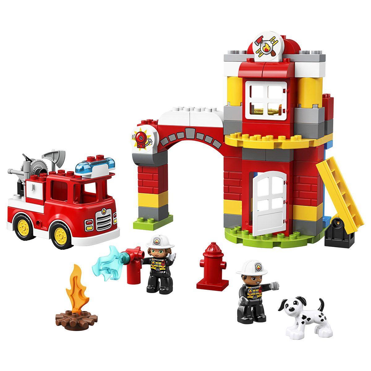 La Caserne De Pompiers Lego Duplo 10903 Police Pompiers Et