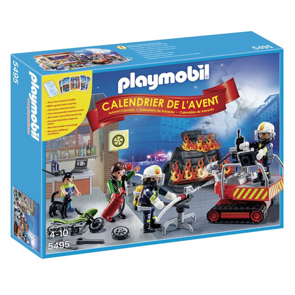 Calendrier L Avent Playmobil.Calendrier De L Avent Playmobil Brigade Des Pompiers 5495