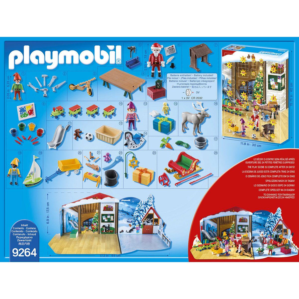 Calendrier L Avent Playmobil.Calendrier De L Avent Pere Noel Playmobil 9264 Jeux De