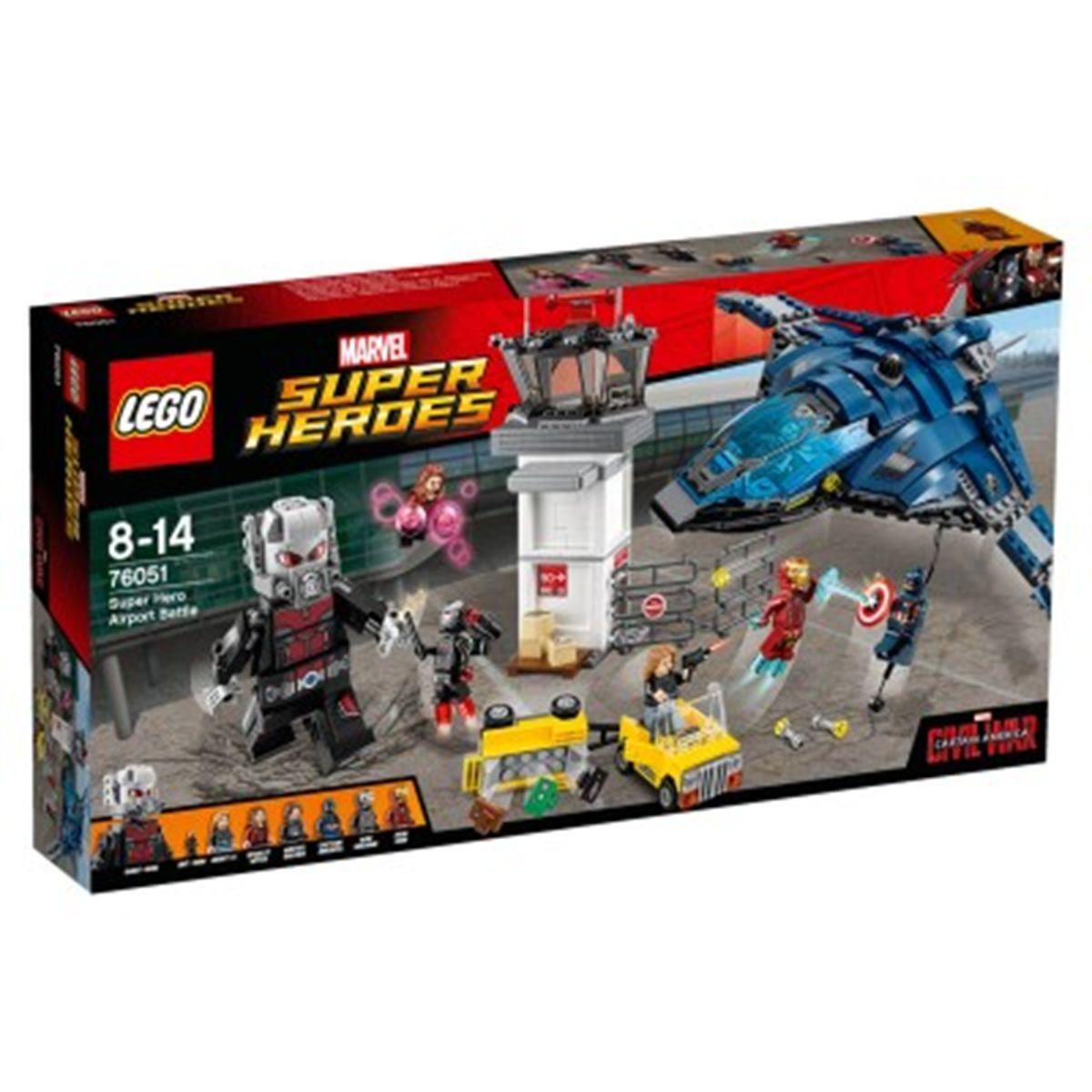 Lego Bataille America Captain 76051 Super De Marvel L'aéroport La OkXTwuZiP
