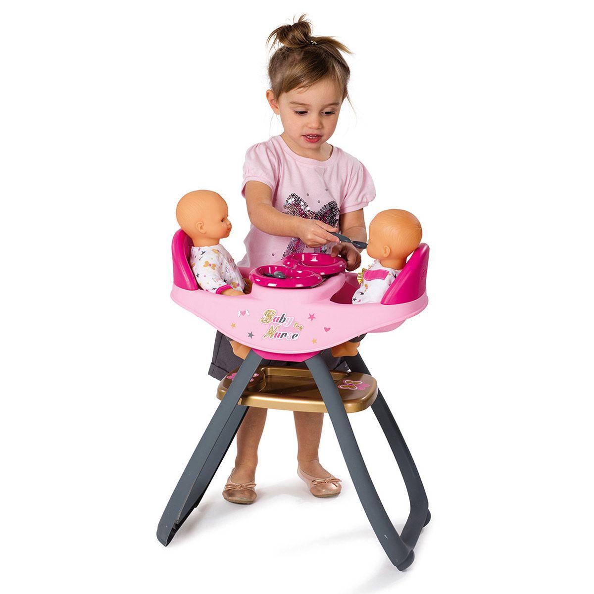 Poupons Grande Jumeaux Pour Nurse Chaise Baby Mobilier Haute La 6gb7fy