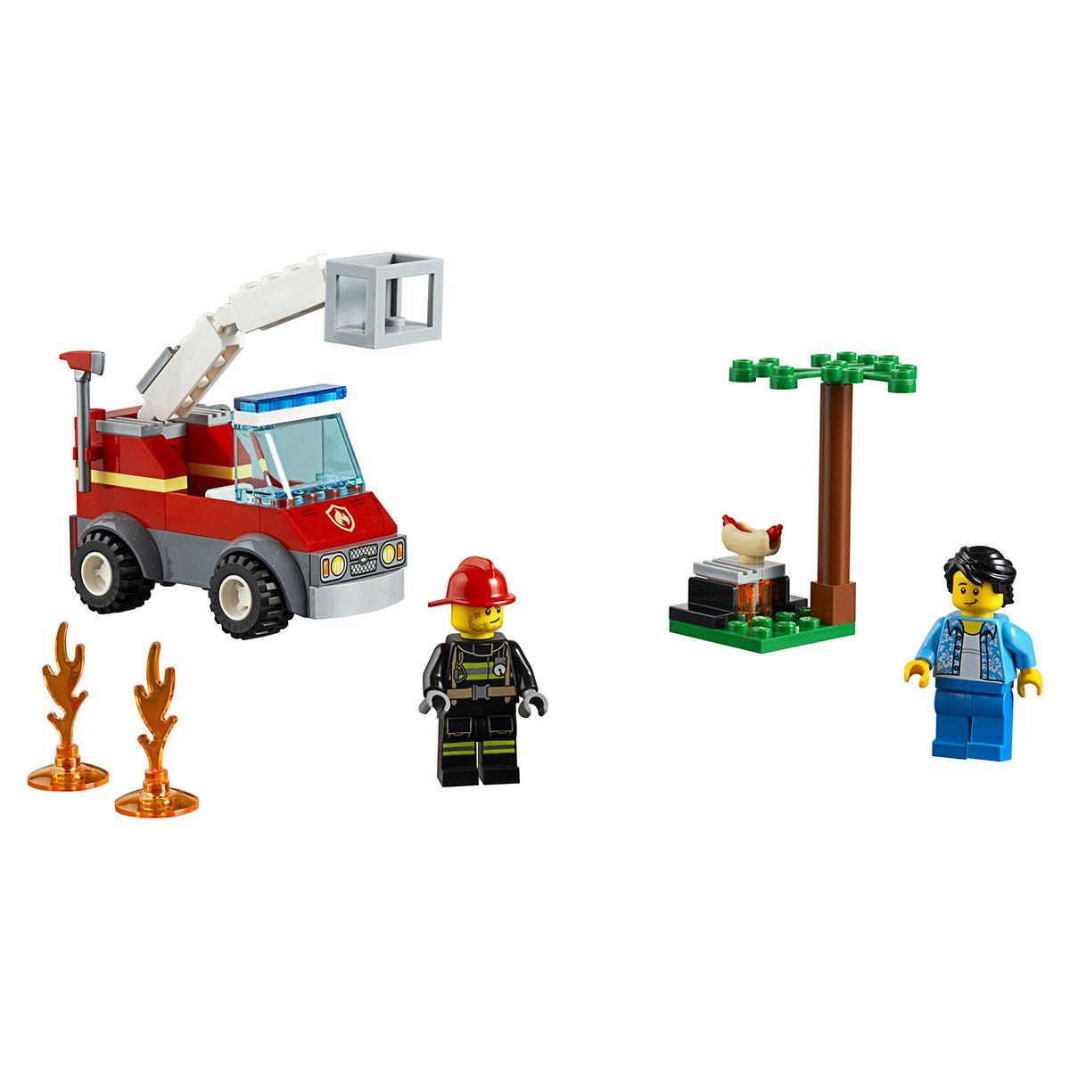 L Extinction Du Barbecue Lego City 60212 Police Pompiers Et