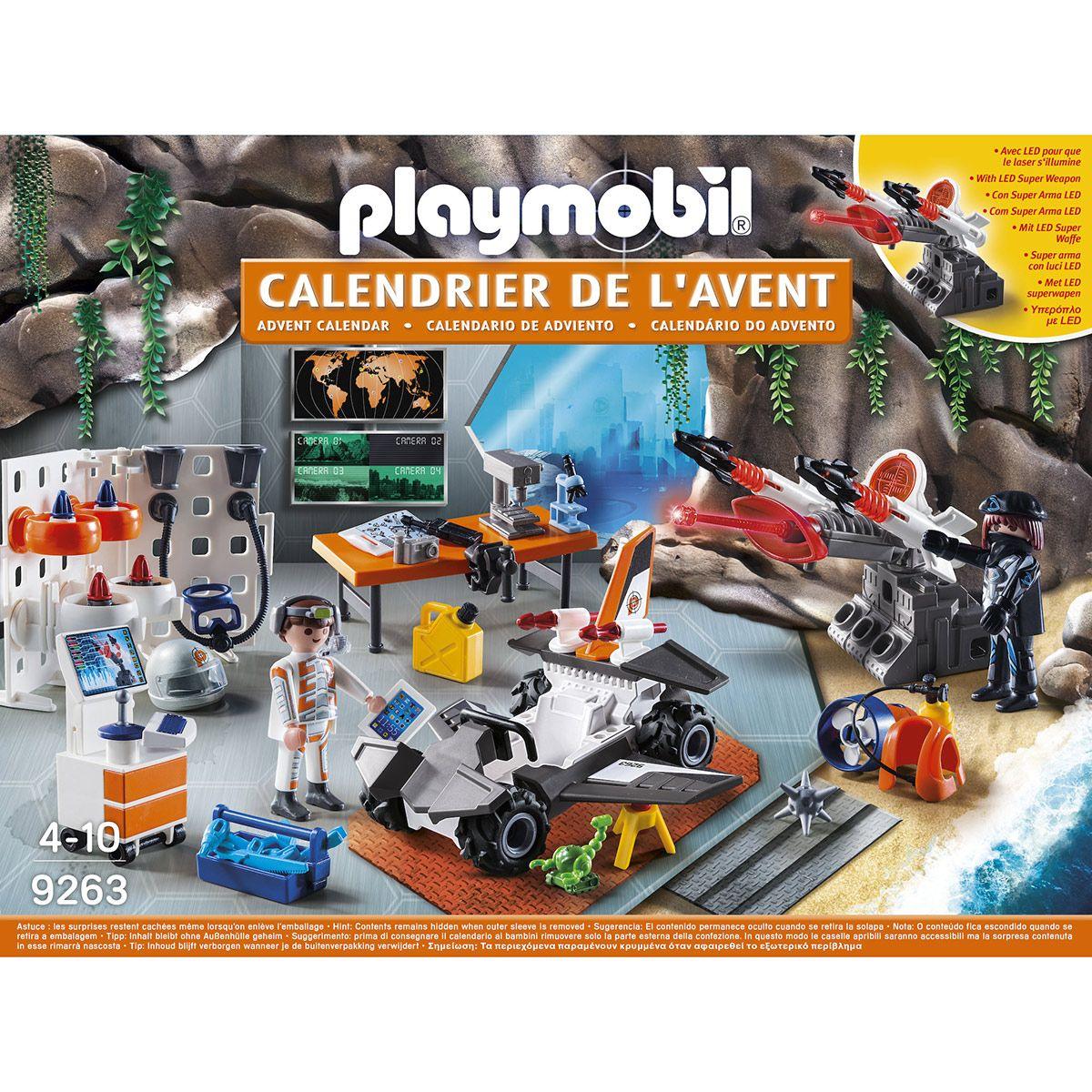 Calendrier L Avent Playmobil.Calendrier De L Avent Playmobil Tops Agents 9263 Vehicules