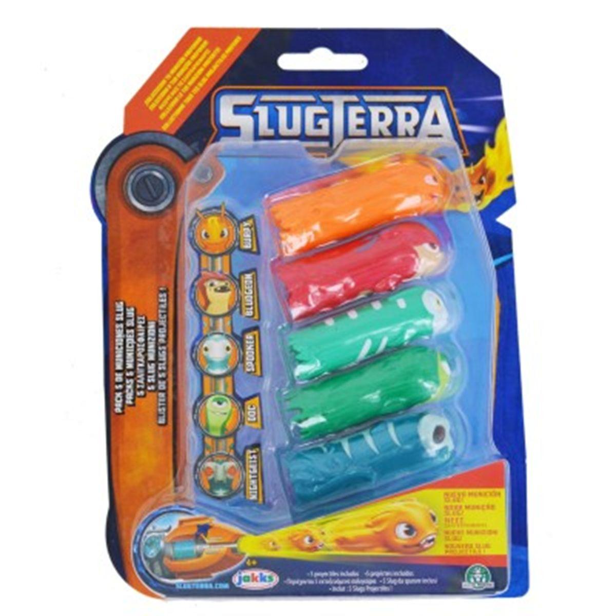 Blister De 5 Slugs Projectiles Pour Blaster Slugterra