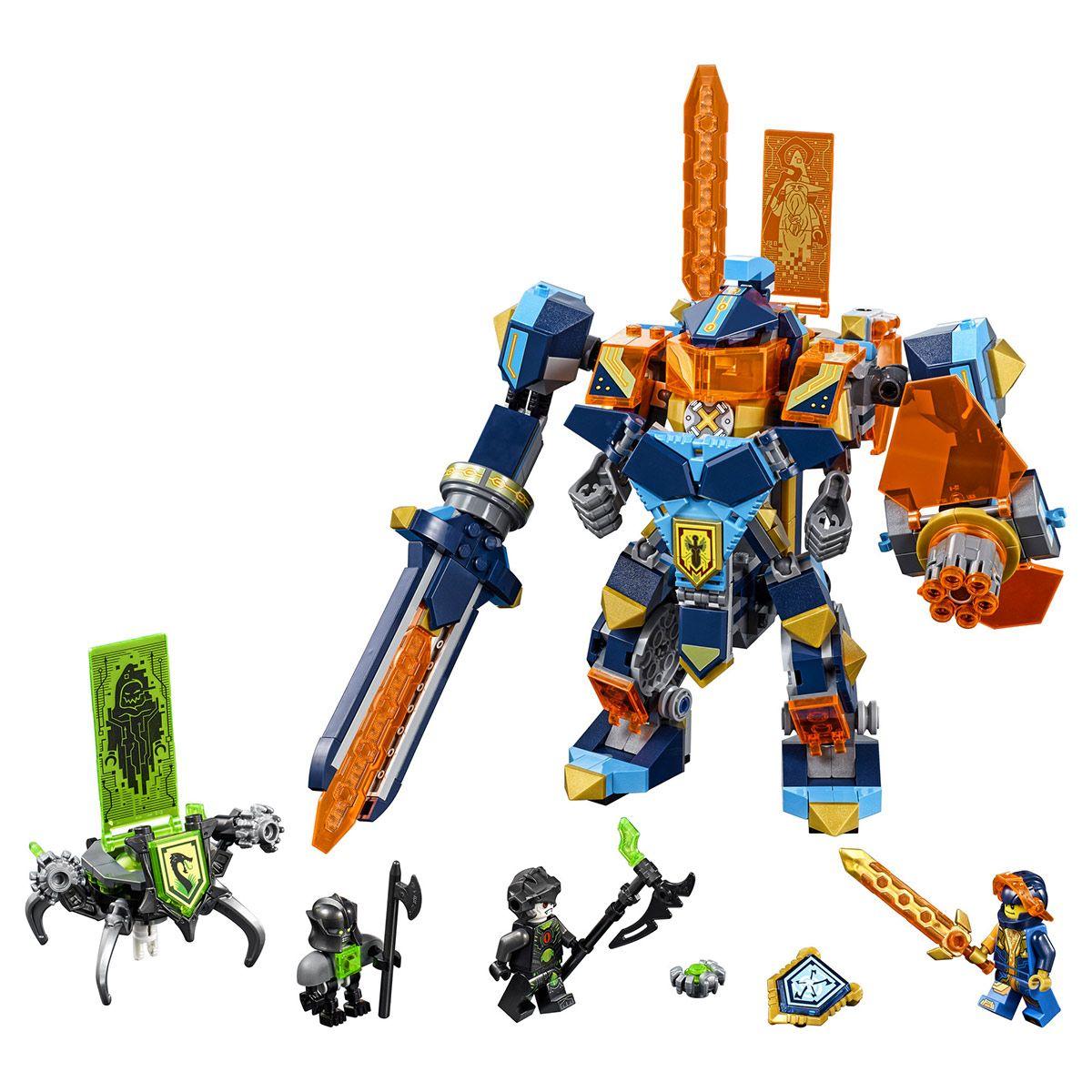 Lego Knights 3 Clay L'armure Robots En Et Sciences Nexo 1 De 72004 3jLqA54R