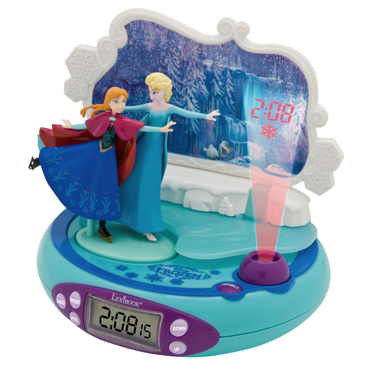 Radio réveil projecteur La Reine des Neiges