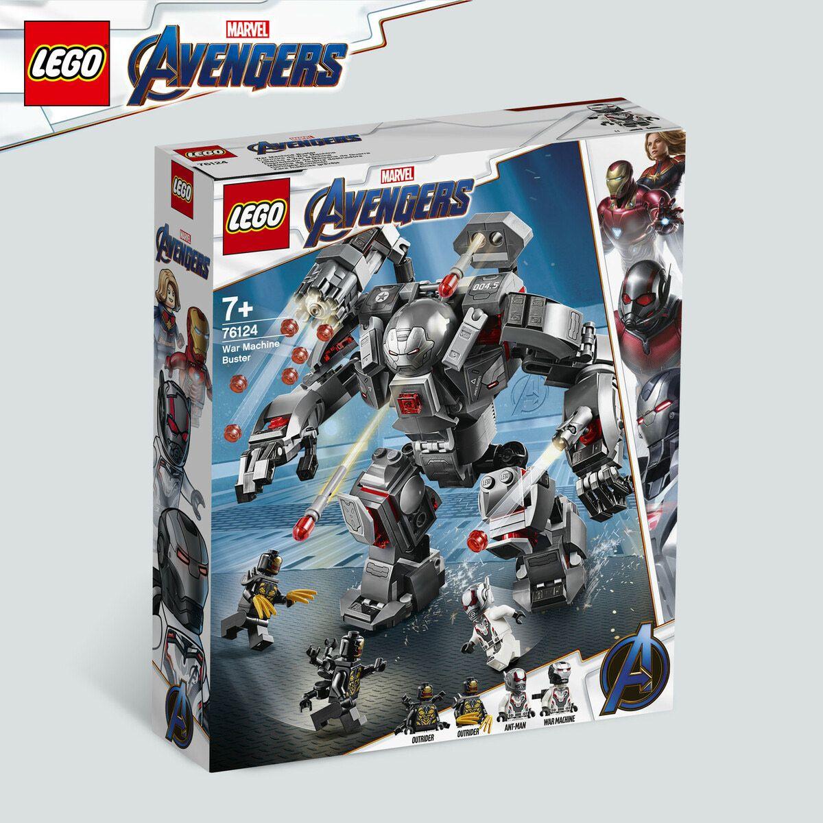De L'armure Lego 76124 Super Heroes Marvel Héros War Machine 9IDEH2