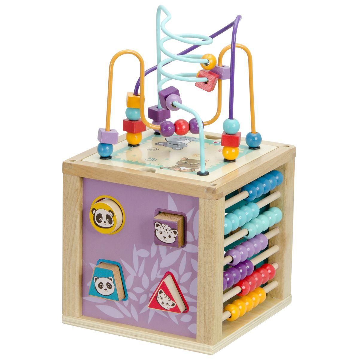 ever popular online shop info for Cube 5 activités en bois - Jouets d'éveil et peluches - La ...