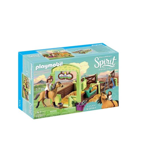 Lucky et Spirit avec box Playmobil DreamWorks Spirit Riding Free 9478
